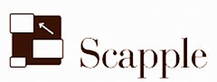The logotype for the Scapple software