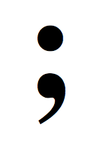 This image shows what a semicolon looks like.